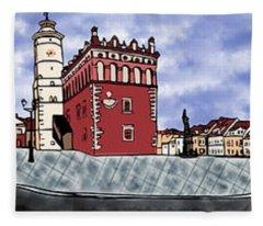 Sandomierz City Fleece Blanket