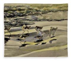 Sandpiper Morning Fleece Blanket