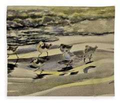 Sandpiper Morning Fleece Blanket