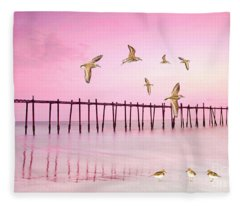 Sandpiper Sunset Fleece Blanket