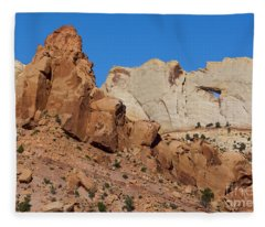 Sandstone Arch At Capitol Reef Fleece Blanket
