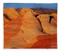 Sandstone Formations In Valley Of Fire State Park Nevada Fleece Blanket