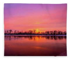 Sandy Chute Sunset Fleece Blanket