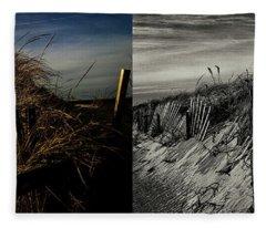 Sandy Neck Dunes Winter Light 2x Fleece Blanket