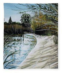 Sandy Reeds Fleece Blanket