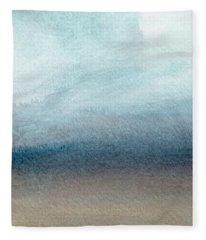Sandy Shore- Art By Linda Woods Fleece Blanket