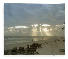Sanibel Island Fl Fleece Blanket