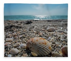 Sanibel Island Sea Shell Fort Myers Florida Fleece Blanket