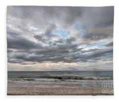 Sanibel Island Seashells Fleece Blanket