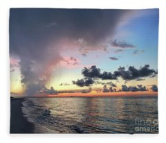Sanibel Island Sunrise Fleece Blanket