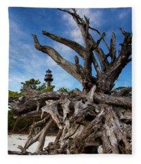Sanibel Lighthouse Fleece Blanket