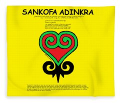 Sankofa Adinkra Fleece Blanket