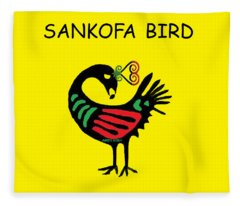 Sankofa Bird Fleece Blanket