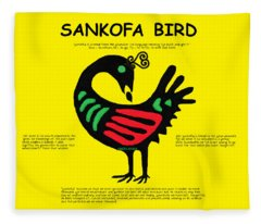 Sankofa Bird Of Knowledge Fleece Blanket