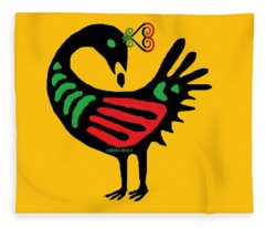 Sankofa Go Back And Fetch Fleece Blanket