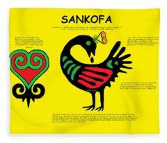 Sankofa Knowledge Fleece Blanket