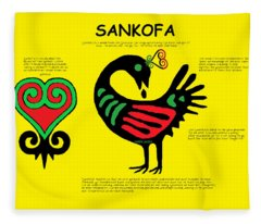 Sankofa Knowledge Fleece Blanket