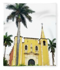 Santa Anna Cathederal In Merida Mexico Fleece Blanket