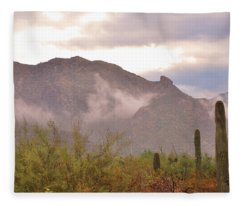 Santa Catalina Mountains II Fleece Blanket