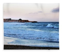 Santa Cruz Bay Waves Fleece Blanket