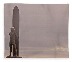 Santa Cruz Santa Surfer  Fleece Blanket