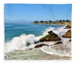 Santa Cruz Wave Spray Fleece Blanket