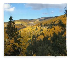 Santa Fe Autumn View Fleece Blanket