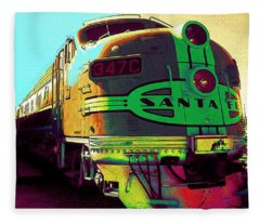 Santa Fe Railroad New Mexico Fleece Blanket