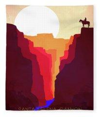 Santa Helena Canyon 1  Fleece Blanket