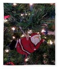 Santa Is Almost Here Fleece Blanket