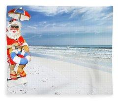 Santa Lifeguard Fleece Blanket
