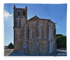 Santa Maria Do Carmo Church In Lourinha. Portugal Fleece Blanket