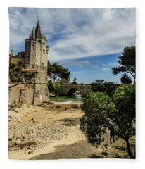 Santa Marta Beach In Cascais, Portugal Fleece Blanket