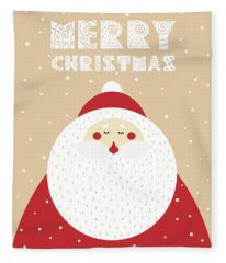 Santa Merry Christmas 2 Fleece Blanket