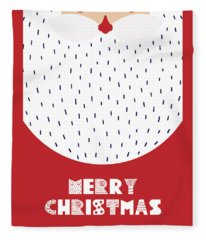 Santa Merry Christmas Fleece Blanket