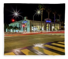 Santa Monica City Lights Fleece Blanket