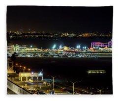 Santa Monica Pier Light Show - Series 2 Fleece Blanket