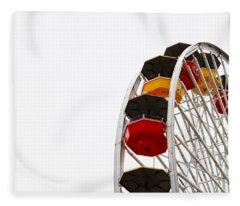 Santa Monica Pier Ferris Wheel- By Linda Woods Fleece Blanket