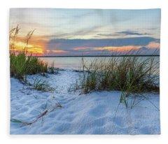 Santa Rosa Sound Sunset Fleece Blanket