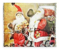 Santa Scene 2 Fleece Blanket
