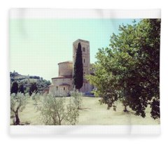 Abbey Of Sant'antimo Fleece Blanket