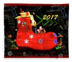 Santa's Magic Stocking Fleece Blanket