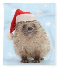 Santa's Prickly Pal Fleece Blanket