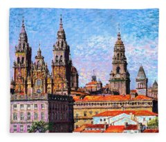 Santiago De Compostela, Cathedral, Spain Fleece Blanket