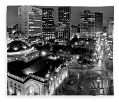 Sao Paulo Downtown - Viaduto Do Cha And Around Fleece Blanket