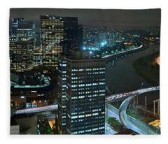 Sao Paulo Skyline Modern Corporate Districts Brooklin Morumbi Chacara Santo Antonio Fleece Blanket