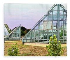 Saolariums At San Antonio Botanical Gardens Fleece Blanket