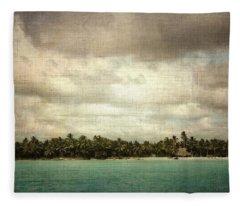 Saona Island , Santo Domingo Fleece Blanket