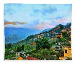 Sapa Village Northern Vietnam  Fleece Blanket