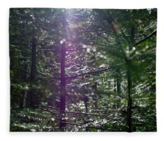 Saplings In The Sun Fleece Blanket